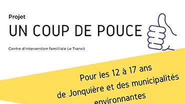 Projet coup de pouce | Centre d'intervention familiale Le Transit